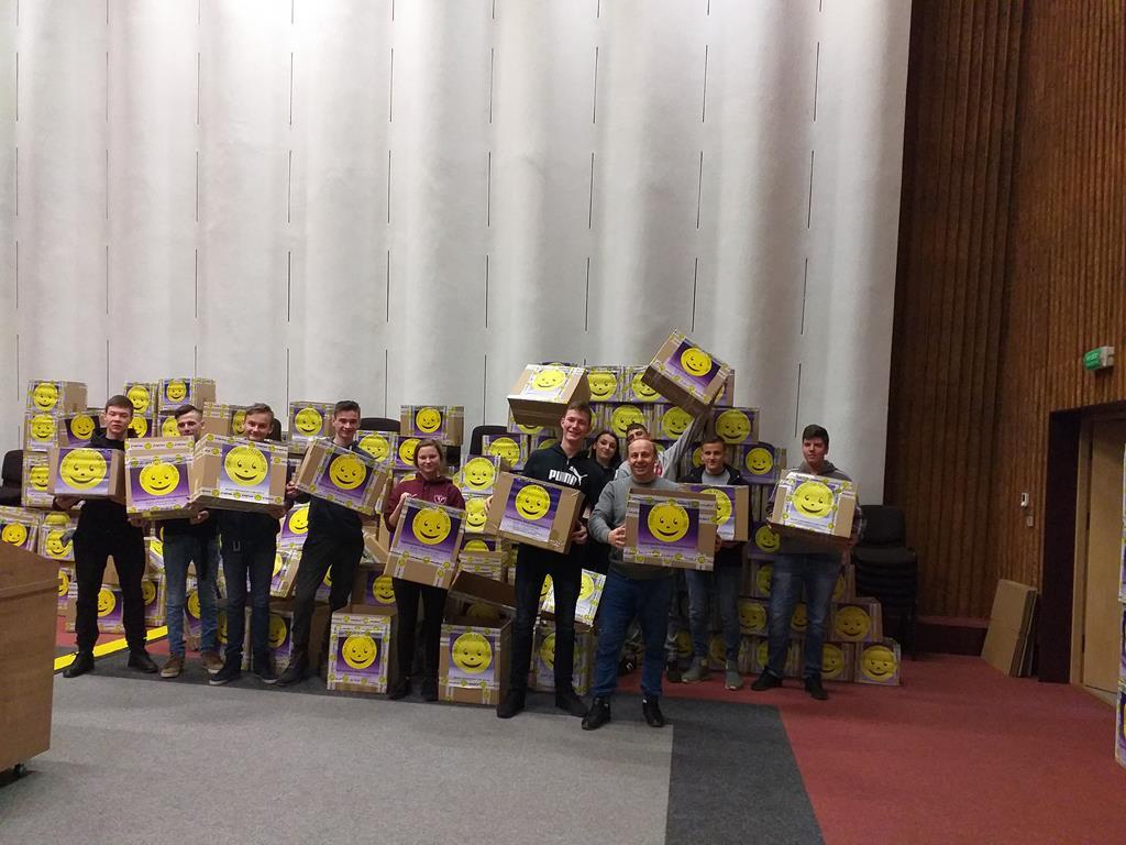 Wolontariusze RCEZ podczas wielkiej ulicznej zbiórki w Lublinie