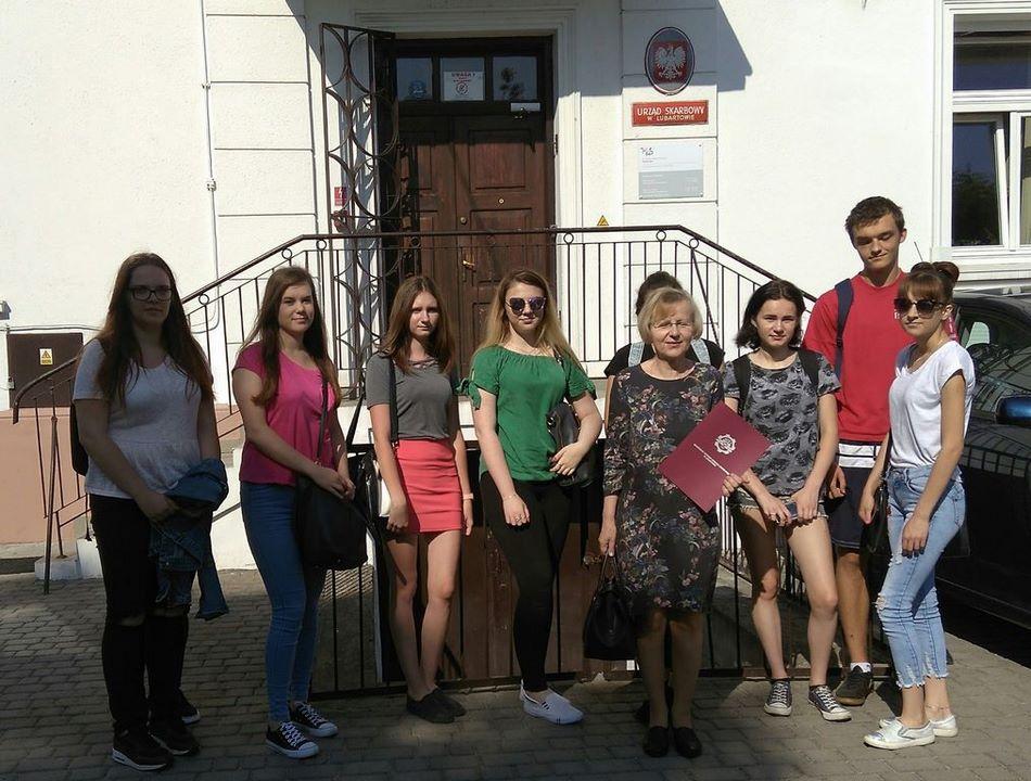 Wycieczka klasy 3 TEk do Urzędu Skarbowego w Lubartowie