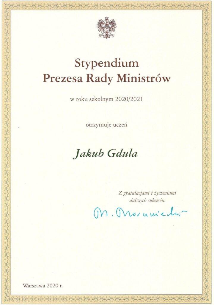 Stypendium J_Gdula