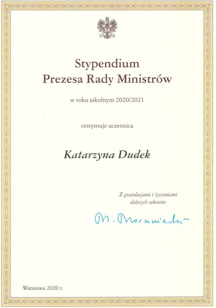 Stypendium K_Dudek