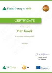 Certificate - Piotr Nowak