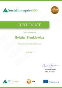 Certificate - Sylwia Sienkiewicz