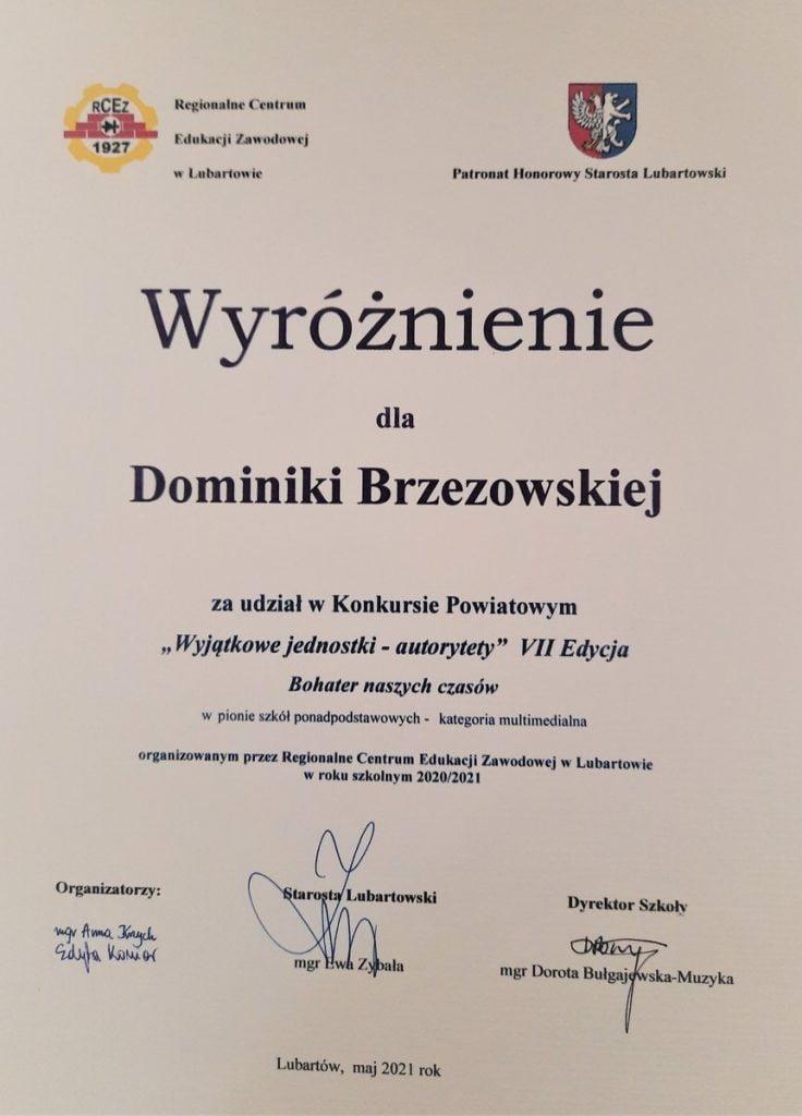 konkurs autorytety d brzezowska