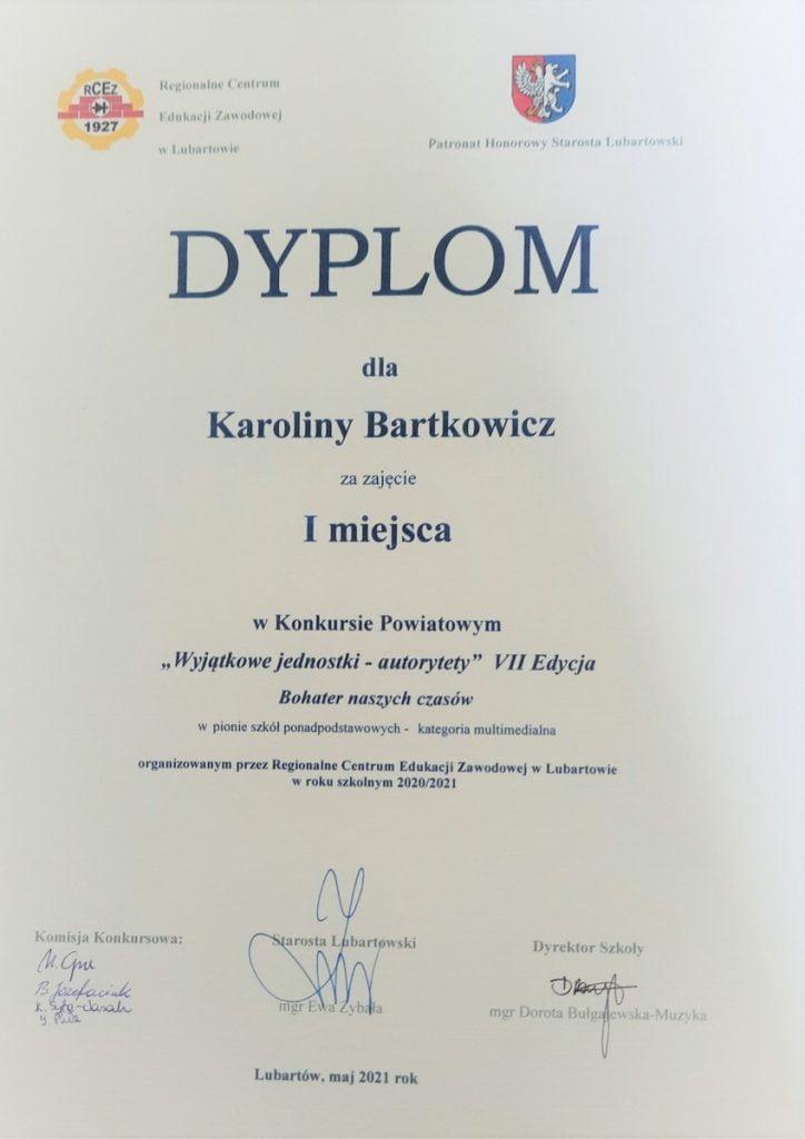 konkurs autorytety k bartkowicz